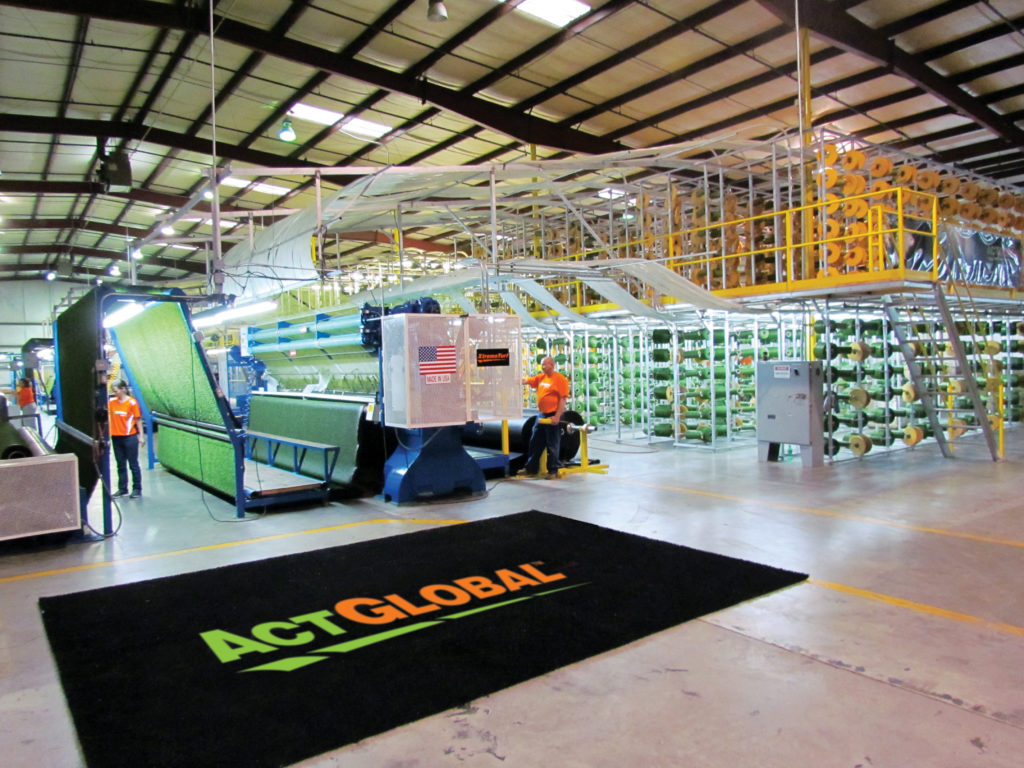 Act Global Artificial Grass Manufacturing Plant