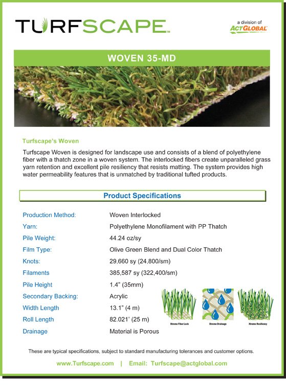 Turfscape Woven Specs 35 MD