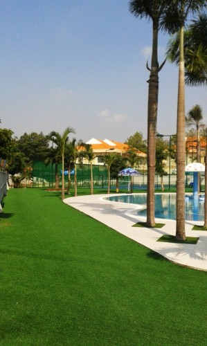 Artificial Grass poolside application